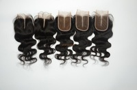 Clear Middle Part peruvian virgin bodywave lace top closure, natual color, Dyeable,bleached knots,Good feedback