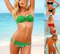 9 Colors Sexy With Cup vs push up women Swimwear Swimsuit Shoulder Strap Women Sexy swim wear Bikini Bathing Suit