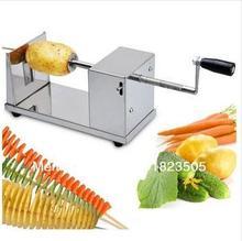 Hotsale 1pcs new manual Tornado potato machine, potato spiral cutting machine,potato cutter machine /potato chips machine(China (Mainland))