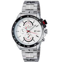 FreeShipping  Fashion Brand CURREN 8148 Men's Wrist Watch Stainless steel Luxury Quartz dress Watch  Calenda Military Watches