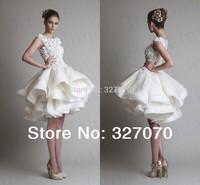 2014 Newest ! Mini A-line Bateau Above Knee Zipper Sexy White Short Evening Prom Dresses Vestido De Festa Hot Sale Free Shipping