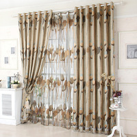 Jacquard & Printed & Crinkled Luxury Curtain For Living Room Tulle + 100% Blackout Curtain 150*250cm Curtains For Window/Hotel