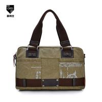 New 2014 Europe and America Korean fashion canvas shoulder messenger bag men's business casual bag for teenager handbags