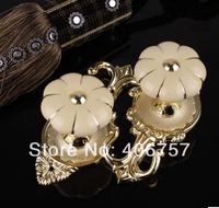 HTop quality unique design fashionable znic&ceramic Pumpkin curtain hooks holdback tieback by plating gold metal& yellow ceramic