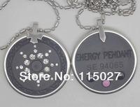 New Arrival stainless steel quantum energy pendant crystal scalar energy quantum negative ion pendants germanium far infrared