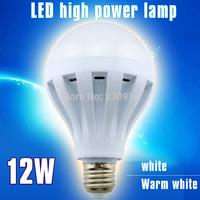 Home decoration LED Bulb Lamp E27 2835SMD 12W light  AC200V -240V  white/warmwhite Free shipping