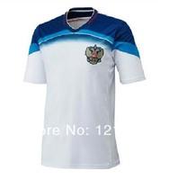 A+++ 2014 World Cup  New Russia away soccer jersey Top Thailand Quality football shirt Uniform