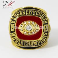 Free Shipping Defective 1969 Kansas City Chiefs World Dawson Championship Ring 1 PCS