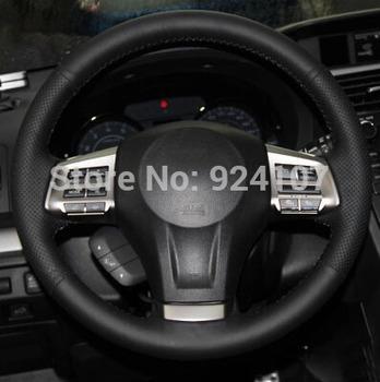 Для Subaru Forester Outback наследия XV руль обложка автомобилей специальное вручную прошитый черный кожаный рули обложки