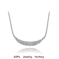 ROXI Jewelry  platinum  gift Genuine Austrian Crystals Classic necklace platinum plated,Gift to girlfriend,100%hand made,
