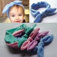 Wholesale12pcs/lot  2014 New Baby Ears Bow Strechy Headband Fashion Girls Headwrap Hairband Hairware