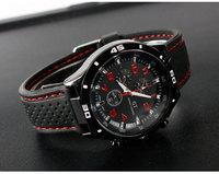 """Black"" New 2014 Men GT Sports Watch,Fashion Rubber Quartz Wristwatch,Silicone Watches,Cool Clock.Grand Touring Relojoes,TMW015"
