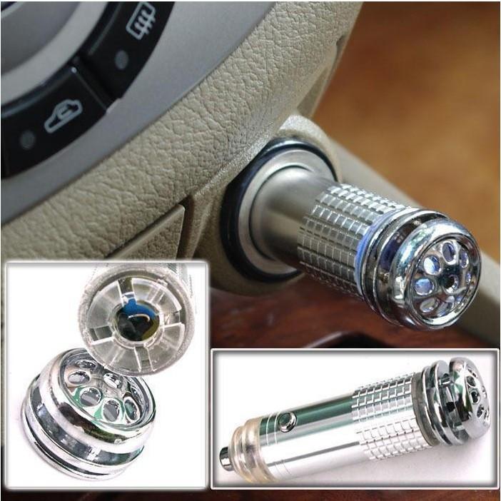 New 2015 Mini Auto Car Freshener,Car Fresh Air Ionic Purifier Oxygen Bar Ozone Ionizer Cleaner  LED light  Free Shipping(China (Mainland))