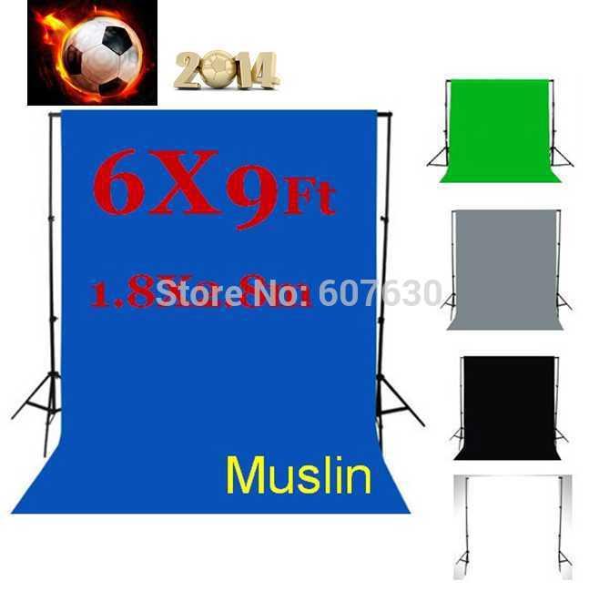 / Chromakey Backdrop 6x9Ft (1.8x2.8m) Muslin Video Photo Background