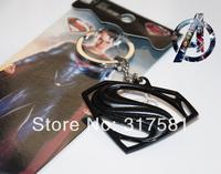 Movie Hero keychain Wholesale , metal jewelry , Superman icons Keychain , necklaces, GIFT