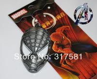Movie Hero keychain Wholesale , metal jewelry , Spider-Man mask  Keychain , necklaces, GIFT