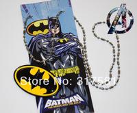 Cartoon Hero keychain Wholesale , metal jewelry , Batman Icon necklace , necklaces, GIFT