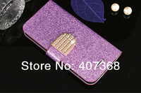 Diamond Bling Leather Cover Case For Samsung Galaxy S3 i9300 S4 i9500 S5 i9600 Note2 N7100 Note3 N9000 Handbag With Card Holder