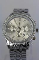 NEW 2014 hot sell fashion wristwatch New Michael Stainless Steel  Diamond Watch Womens / Mens Dress Watch , Free Shipping