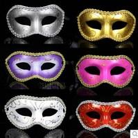 FREE SHIPPING Classic mask masquerade laciness flat head male Women multi-color  20pcs/set