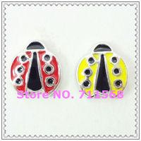 Ladybug Floating Charm Ladybird BeetleCharm Pendants For Floating Glass Locket DIY Accessories