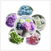 (10 Pcs/lot) Free shipping hydrangea decorative artificial flower Silk  hydrangea Wedding Bouquet Artificial Flowers 5 Colors