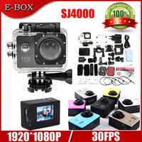 100% original SJ4000 Camera Full HD 1920*1080P 30FPS G-Sensor HDMI H2.64 +30M Waterproof Sport Video camera Free shipping