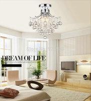 Luxury Crystal Chandelier 3 Lights Lamp Home decoration Lighting for Living Room Bedroom Hallway Chrome Finish ah07