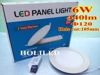 6W round  LED panel light,440lm,80pcs lot.