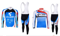 New Arrival!2014 CUBE Cycling Jersey Long sleeve and bicycle bib Pants / ropa ciclismo clothing MTB #6633