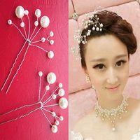 25X WEDDING BRIDAL FAUX PEARL FLOWER HAIR PIN CLIP CREAM HF035