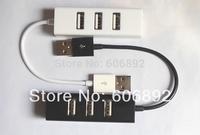 2pcs/lot Mini USB High Speed 4-Port 4 Port USB HUB USB2.0 HUB For Laptop PC Notebook Computer Free shipping