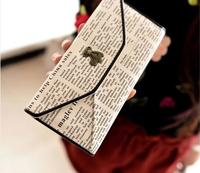 2014 new  bear envelope long design wallet women's wallet new arrival popular cartoon day clutch  free shipping
