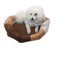 Large Pet Beds Dog Soft Suede Kennel Warm Bed Dog Cushion Cartoon Embroidery Pet House Pet Supplies Dog Products