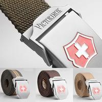 1PCS Men's Outdoor Strengthen Canvas Belt Length110CM*Width 4CM waistband male belt Free Shipping Wholesale Retail 9 Colors