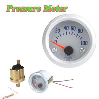 "Car Oil Pressure Meter Gauge with Sensor for Auto Car 2"" 52mm 0~100PSI Orange Light"