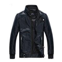 FREE SHIPPING 2014  fashion style  men's PU leather jacket coat  120
