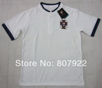 New 2014!!! Portugal Away White Soccer Shirt,Player Version Thailand Quality Portugal Red Soccer Jersey+Free Shipping