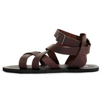 New 2014 summer vintage fashion sandals fashion genuine leather strap gladiator open toe sandals men EU38-44