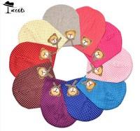 Baby caps&hats Free shipping(10 PC/LOT) Wholesale 10 colors cute bear head spring cotton Skullies boy&girls hat MZ0546