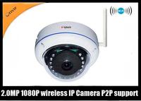 Full HD 1080P IP IR camera Waterproof and  Vadalproof 2.0M pixel  Onvif+P2P support BQ-ND624RVWH