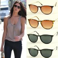 Free Shipping 2014 New Fashion Polycarbonate Summer Sunglasses Black Unisex  Accessories Wayfarer Male UV400 Women's Glasses