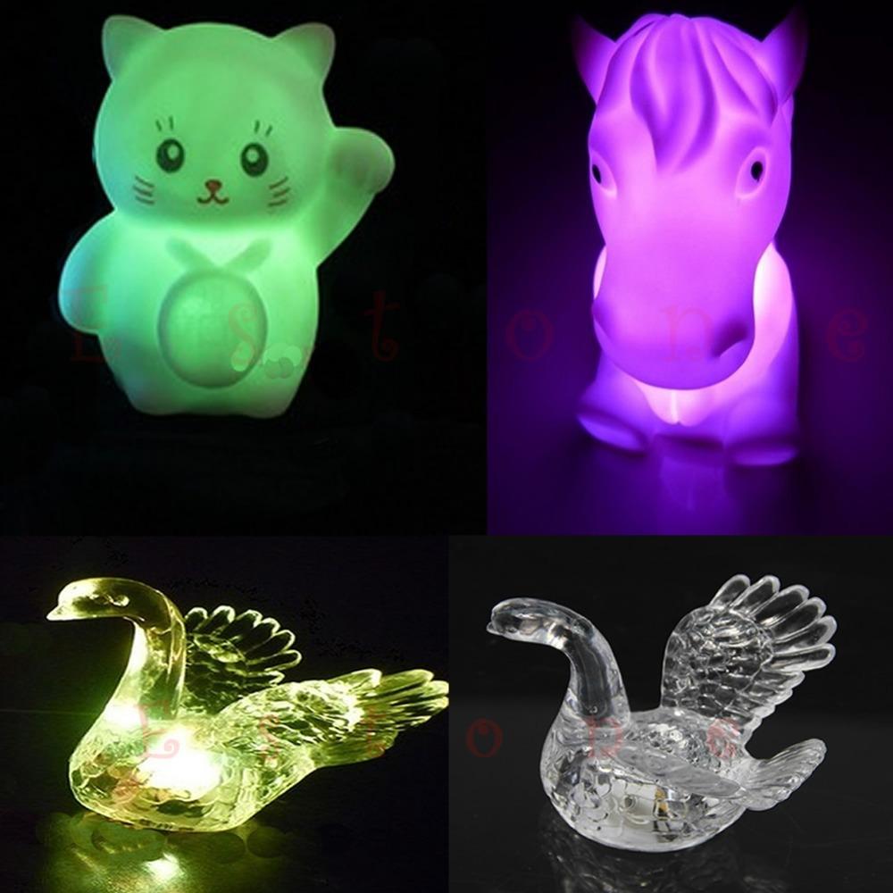 1pc Decoration Lamp Cute Colorful Changing Small LED Night Light New(China (Mainland))