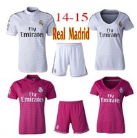 thailand quality 2014-2015 Real Madrid Jerseys Home /away fans version men women  jersey can customized JAMES RONALDO KROOS BALE
