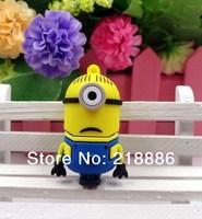 Free shipping 8G 16G 32G  U Disk pen drive Small yellow people U disk  USB Flash 2.0 usb Flash Drive memory stick