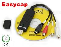 New USB 2.0 Easycap USB Capture TV DVD VHS Video Capture Adapter AV Audio Capture Card Free Shipping