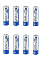 8 pcs/lot BTY NI-MH 2A 1.2V Rechargeable Battery AA 3000mah (light Blue)