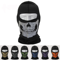 Free shipping! SKULL Ghost outdoor Tactical Mask night-reflective helmet ,motorcycle cycling bicycle Riding CS mask caps