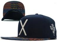 2014 new 1 pcs deep blue fashion baseball snapback hats and caps for men cool cotton adjustable sport hip pop cap X letter cheap