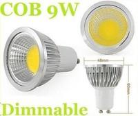 Wholesale - CE ROHS CUL E26 E27 GU10 9W Led COB Bulbs Light 110-240V Dimmable Warm/Cool White 120 Angle GU5.3 Led Spot Lights En